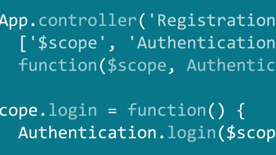 AngularJS 1: Adding Registration to Your Application image